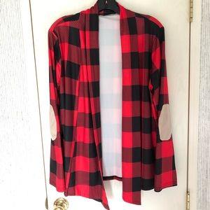 Tops - Long Sleeve Buffalo Plaid Cardigan
